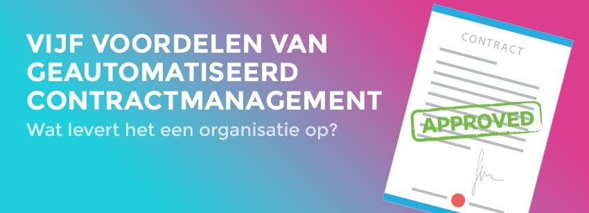 Contractmanagement automatiseren