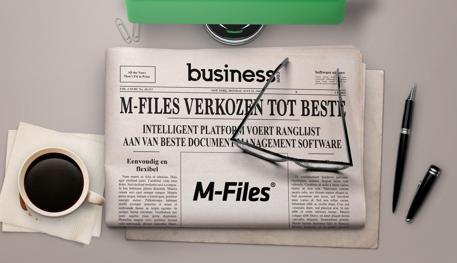 M-Files Bovenaan DMS Ranglijst